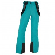 Kilpi Elare-W short, womens ski pants, turquoise