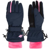 4F Tilde ski gloves, junior, navy