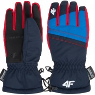 4F Konrad ski gloves, junior, navy