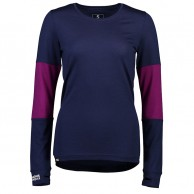 Mons Royale Original LS, base layer, women, dame, Navy/Pinot