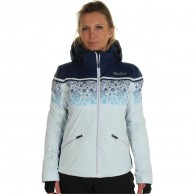 DIEL Sun Valley. ski jacket, women, swan/blue