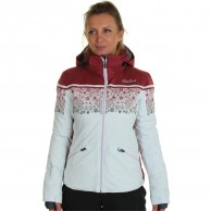 DIEL Sun Valley. ski jacket, women, swan/bordeaux