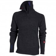 Ulvang Rav sweater w/zip, mens, dark grey