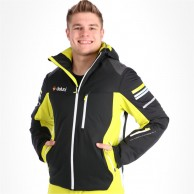 Deluni ski jacket, men, black/yellow