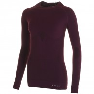 Falke Maximum Warm Longsleeved Shirt Tight Fit, women, bordeaux