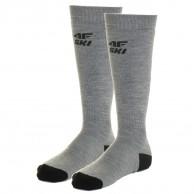 4F 2 pair Cheap Ski Socks, men, cold light grey