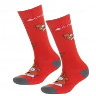 Cairn Spirit ski socks, 2-pack, kids, red marmot