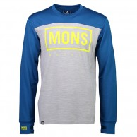 Mons Royale Yotei Tech LS, base layer, men, grey marl