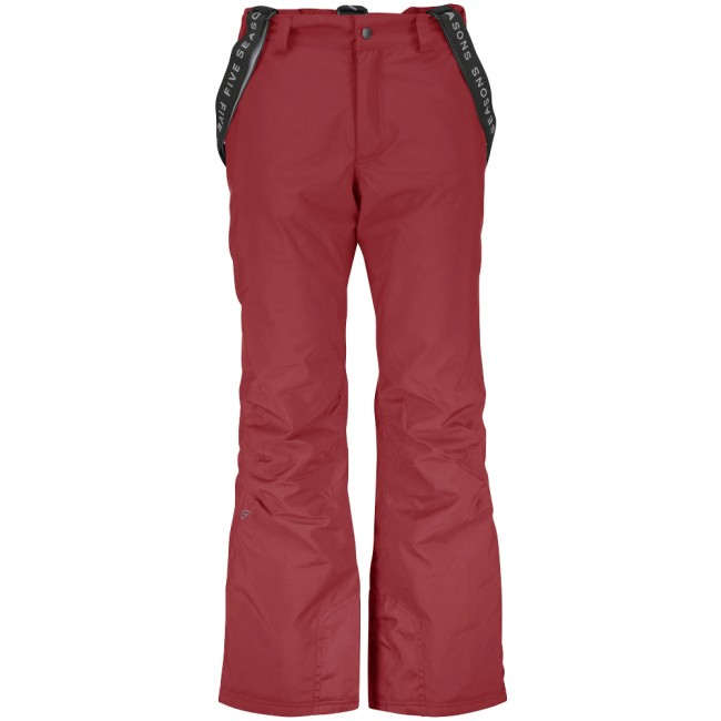 Five Seasons Evron, ski pants, men, red met korting