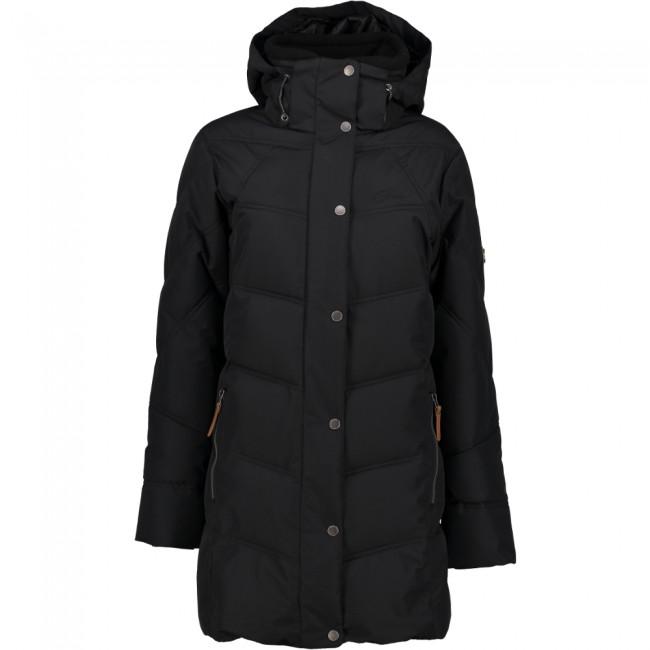 Five Seasons Kayla, long winter jacket, women, black met korting