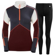 Helly Hansen Lifa Merino skiunderwear, set, women, port/black