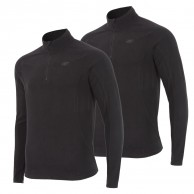 4F Odin Microtherm mens fleece midlayer, black, 2 pcs