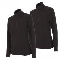 4F Thora Microtherm womens fleece midlayer, black, 2 pcs