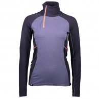 Mons Royale Olympus 3.0 Half Zip, base layer, iron/stone