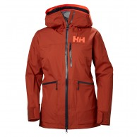 Helly Hansen W Kvitegga Shell Jacket, women, red brick