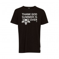 Thank God Summer is Over T-shirt, black/white