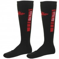 Sun Peaks Moby, Cheap Ski Socks, black/red, 2-pair