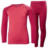 Helly Hansen Lifa Merino MId skiunderwear, set, junior, persian red