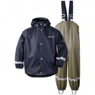 Didriksons Slaskeman, Rain Suit, kids, navy