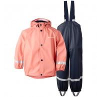 Didriksons Slaskeman, Rain Suit, kids, coral rose