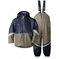 Didriksons Waterman, Rain Suit, kids, dusty olive