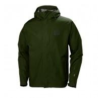 Helly Hansen Seven J, mens Rain jacket, forest night