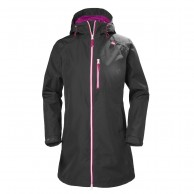 Helly Hansen W Long Belfast Jacket, rain Jacket, women, charcoal