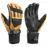 Leki Griffin S, ski gloves, men, tan/black
