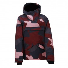 2117 of Sweden Hentorp shell jacket, women, wine red camo