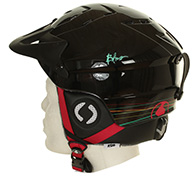 Bliss KDS kids ski helmet, black w. visor