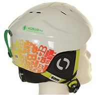 Bliss KDS kids ski helmet, white/green