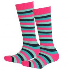 4F Ski Socks, 2 pair, kids, stripes