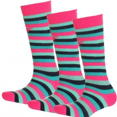 4F Ski Socks, 3 pair, kids, stripes