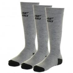 4F Ski Socks, 3 pair, men, cold light grey