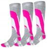 4F Ski Socks, women, 3 pair, cold light grey