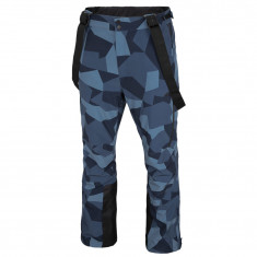 4F Casper, ski pants, men, blue camo