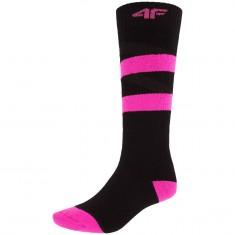 4F Ski Socks, women, deep black