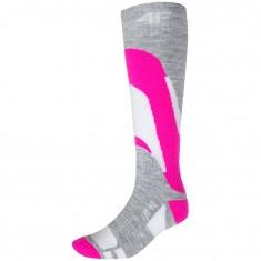 4F Ski Socks, womens, pink