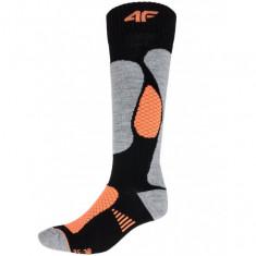 4F womens Ski Socks, black/orange