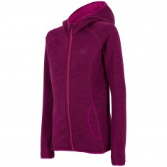 4F fleece jacket w. hood women, purple