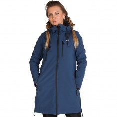 4F Inez long softshell jacket, women, navy