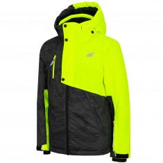 4F Lauge, ski jacket, junior, yellow neon