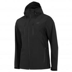 4F Mason, softshell jacket, men, black
