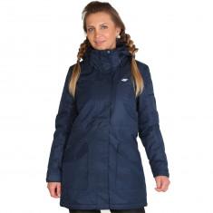 4F Melanie long winter jacket, women, navy