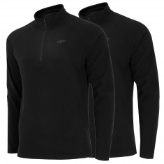 4F midlayer, 1/4 zip, 2-pack, men, black