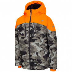 4F Oscar, ski jacket, junior, camo orange