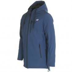 4F Rolf long softshell jacket, men, navy