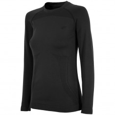 4F skiunderwear shirt, seamless, women, black