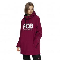 4F Sophie, softshell hoodie, women, burgundy