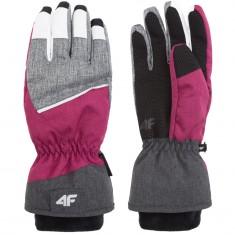 4F Thelma ski gloves, women, pink